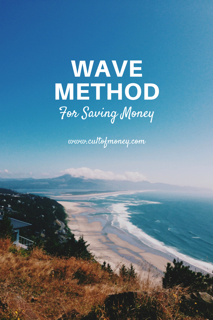The WAVE method for saving money is a plan to save more money over time. Look at a graph of your expenses, and savings, you can see a wave-like structure.