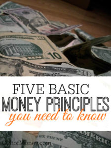 Do you feel like money is ruling your life? It doesn't have to! Learn these basic money principles and everything will come together for you.