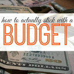 Do you have trouble actually sticking to your budget? Here are some tips that really work!