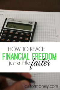 If you're serious about reaching financial freedom there are a few things you can do to speed up the process. These tips will help get you there!
