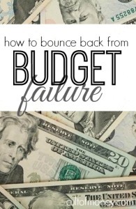 Feeling like a budget failure? Me too. Here are some helpful ways to recover and get back on track.