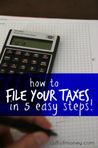 Confused when it comes to filing taxes on your own? Here's how you can file your taxes in five super easy steps. #BeatTheDeadline