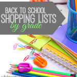 Wondering what supplies your child will need for school? Here's back to shopping lists by grade of the most commonly needed items.