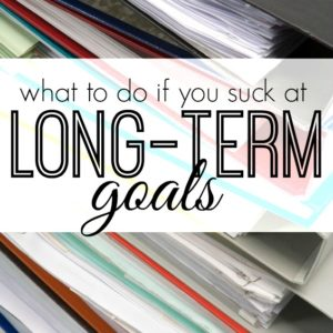 Having trouble goal setting? Here's a step by step guide as well as examples if you suck at setting long term goals.