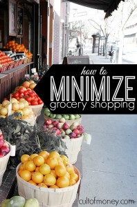 When you minimize grocery shopping you can drastically lower your food bill. Here's what you need to know to get started.