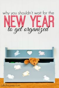 Do you want stay on budget this Christmas and ring in January 1st with a bang? If so, don't wait until the New Year to get organized. Here's why.