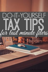 If you have a simple return, filing yourself is very easy and there's really no need to put it off. Here are tax tips for last minute filers that will help get you started.