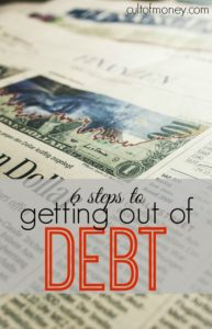 Unfortunately, paying off debt is no easy feat. If you're ready to officially declare yourself debt free here are six steps for getting out of debt.